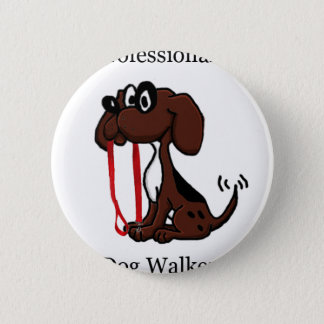Professional Dog Walker 2 Inch Round Button