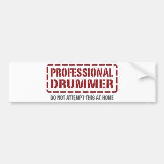 Professional Drummer Bumper Sticker