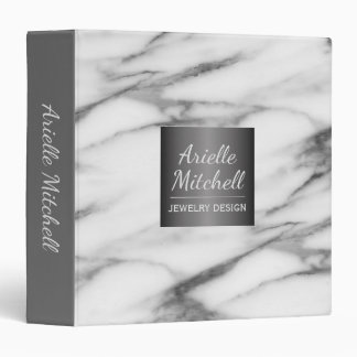 Professional Elegant Alabaster Marble Pattern Vinyl Binders