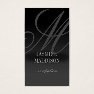 Professional elegant business card Black Grey