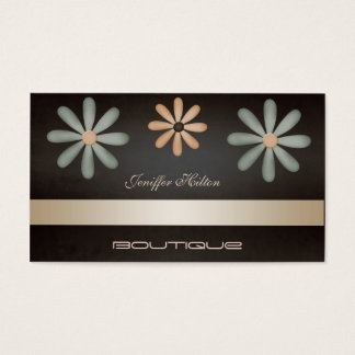 Professional elegant chic luxury floral business card