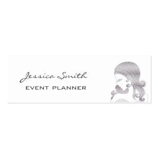 Professional elegant classy glittery silhouette mini business card