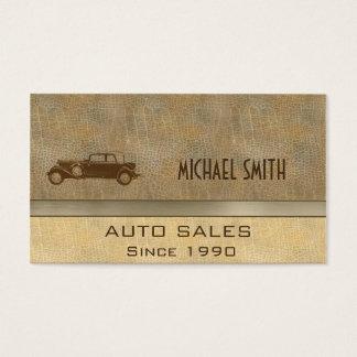 Professional elegant classy vintage old car business card