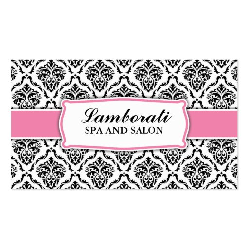 Professional Elegant Damask Floral Pattern Stylist Business Card Template