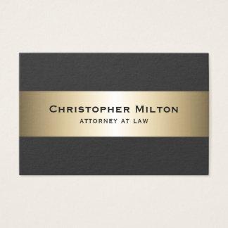 Professional Elegant Dark Faux Gold Stripes Business Card