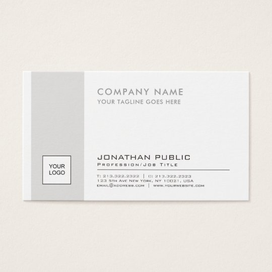 Professional Elegant Logo Plain Corporate Modern Business Card