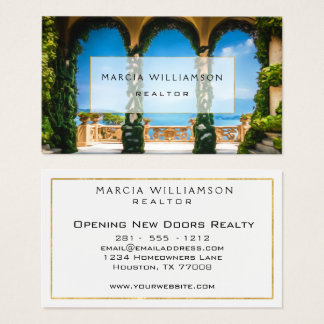 Professional Elegant Modern Arches Architecture Business Card
