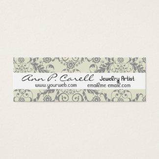 Professional Elegant Modern Artsy Artistic Floral Mini Business Card