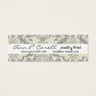 Professional Elegant Modern Artsy Artistic Floral Mini Business Card