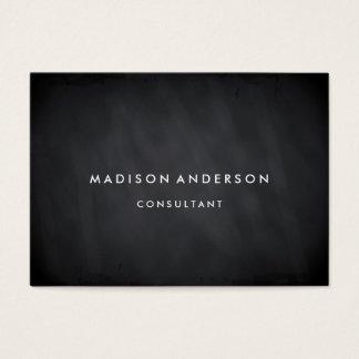 Professional Elegant Modern Black Chalk Board Business Card