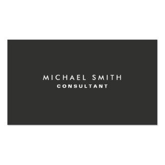 Professional Elegant Modern Black Plain Simple Pack Of Standard Business Cards