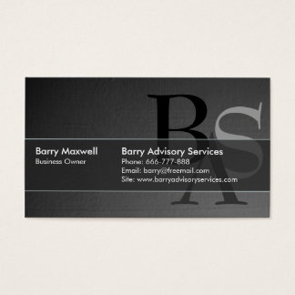 Professional Elegant Modern Black Simple Business Card