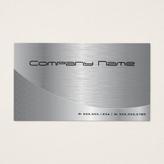Professional Elegant Modern Brushed Silver Busines Business Card