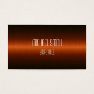 Professional Elegant Modern Dark Orange Business Card