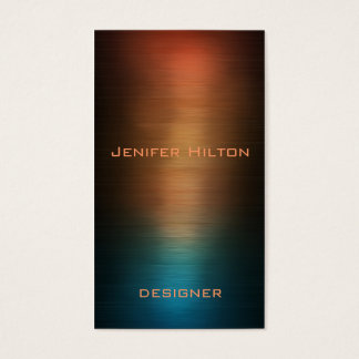 Professional elegant modern luxury colorful metal business card