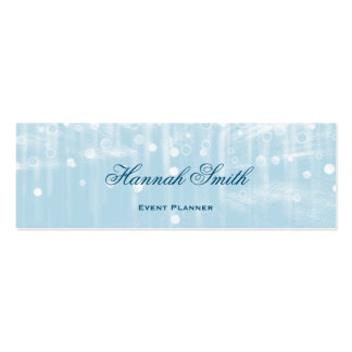Professional elegant modern luxury glitter mini business card