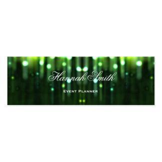 Professional elegant modern luxury glitter pack of skinny business cards