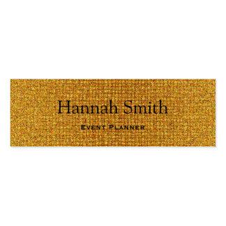 Professional elegant modern luxury gold glitter mini business card