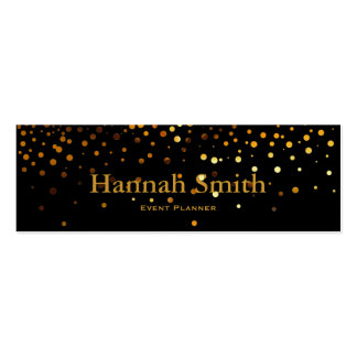 Professional elegant modern luxury gold glitter mini business card