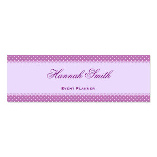 Professional elegant modern luxury Purple Banner Mini Business Card