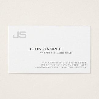 Professional Elegant Modern Monogram Sleek Plain Business Card
