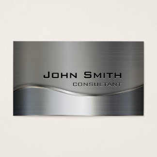 Professional Elegant Modern Silver & Gold Metal Business Card