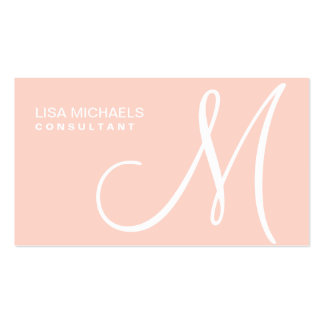 Professional Elegant Monogram Makeup Artist Pink Business Card