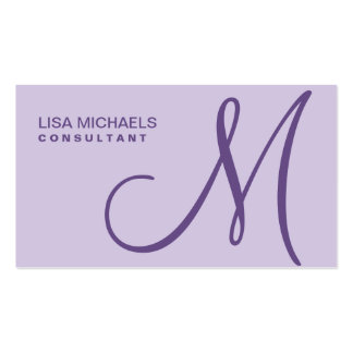 Professional Elegant Monogram Makeup Artist Purple Pack Of Standard Business Cards
