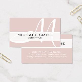 Professional Elegant Monogram Modern Dust Storm Business Card