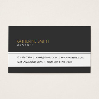 Professional Elegant Plain Simple Fashion Black Business Card