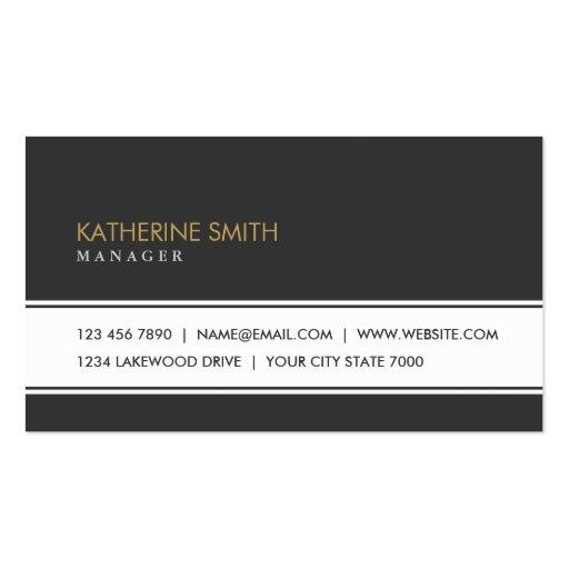 Professional Elegant Plain Simple Fashion Black Business Cards