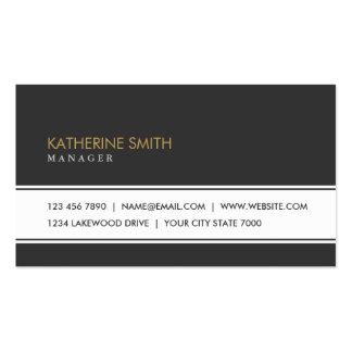 Professional Elegant Plain Simple Fashion Black Pack Of Standard Business Cards