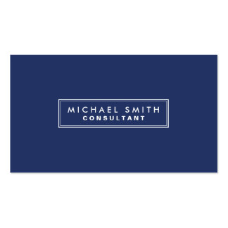 Professional Elegant Plain Simple Modern Blue Business Card