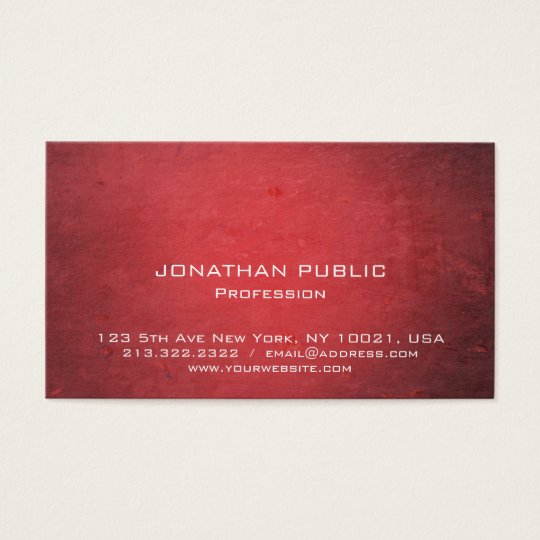 Professional Elegant Red Modern Creative Design Business Card