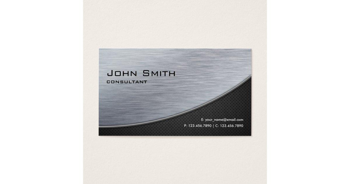 Professional Elegant Silver Modern Metal Black Business