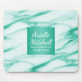 Professional Elegant Turquoise Alabaster Marble Mouse Pad