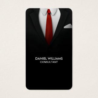 Professional Elegant Unique Modern Suit Consultant Business Card