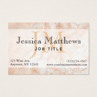 Professional Executive Peach Marble Business Card