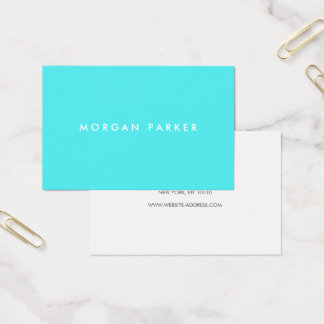 Professional Eye Catching Simple Modern Turquoise Business Card