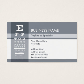 professional eye chart business card