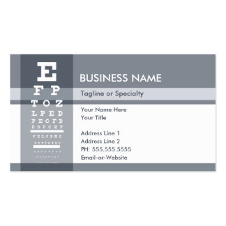 professional eye chart pack of standard business cards