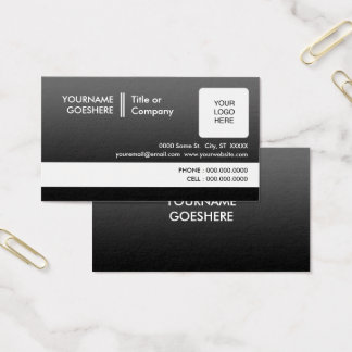 professional fade 2 sided business card