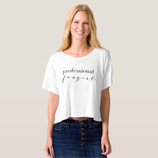 Professional Fangirl Boxy Crop Top T-Shirt