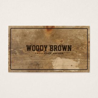 Professional Faux Wood Simple Business Card