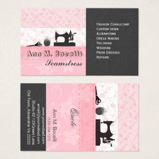 Professional Feminine Handmade Fashion Moda Business Card