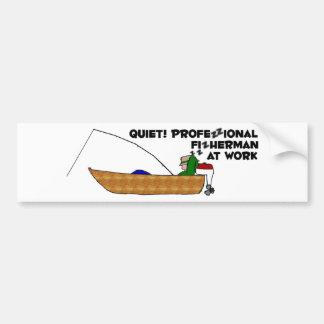 Professional Fisherman at Work Bumper Sticker