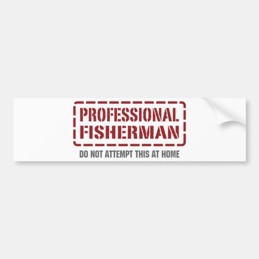 Professional Fisherman Bumper Stickers