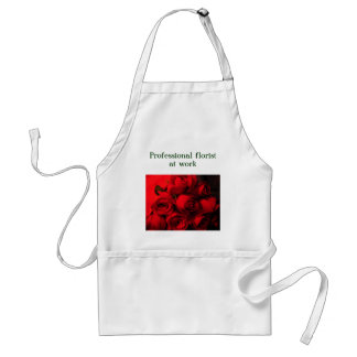 """""""Professional Florist at Work"""" - Red Rose Bouquet Standard Apron"""