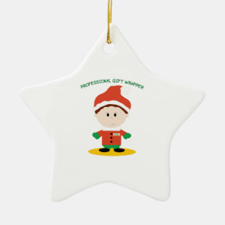 Professional Gift Wrapper Ceramic Ornament