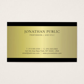 Professional Glamour Gold Effect Plain Luxe Modern Business Card